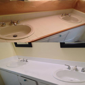 Before After White Glove Bathtub Tile Reglazing