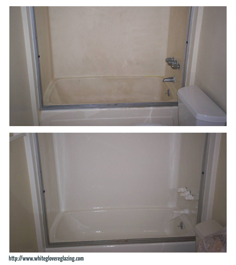 Before & After - White Glove Bathtub &Tile Reglazing